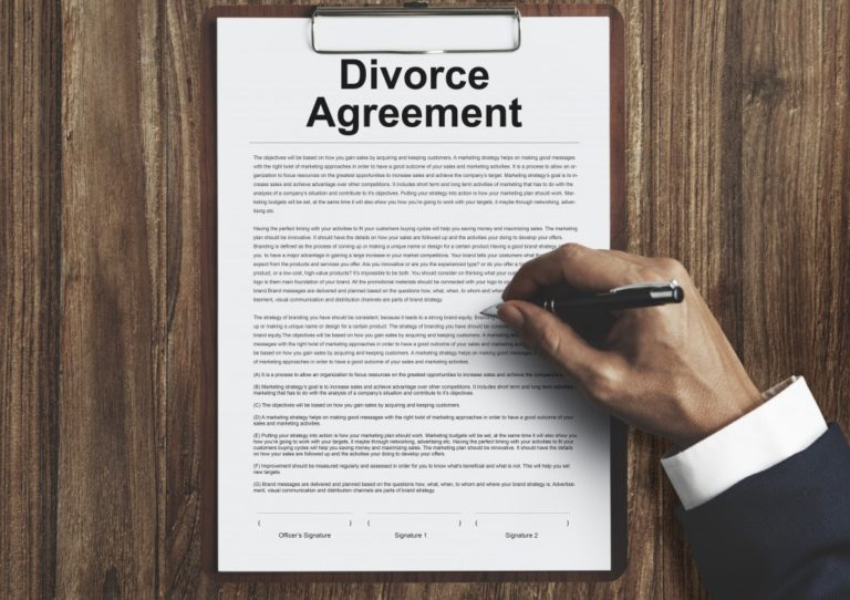 divorce agrrement document